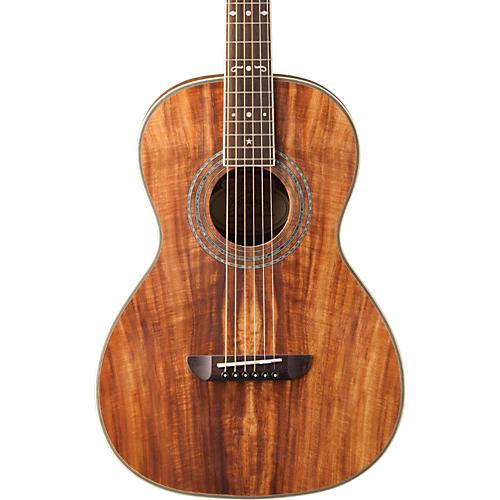 Washburn WP55 Parlor Koa Acoustic Guitar-thumbnail