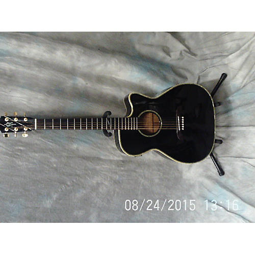 Alvarez WY-1BK Black Acoustic Electric Guitar-thumbnail