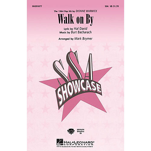 Hal Leonard Walk on By SSA by Dionne Warwick arranged by Mark Brymer