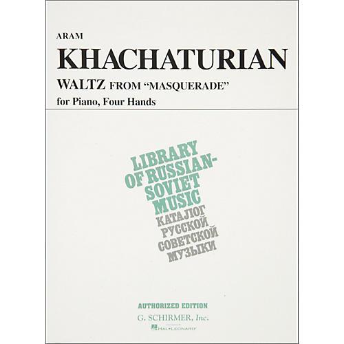 Hal Leonard Waltz From Masquerade Piano 4 Hands Vaap Edition By Khachaturian