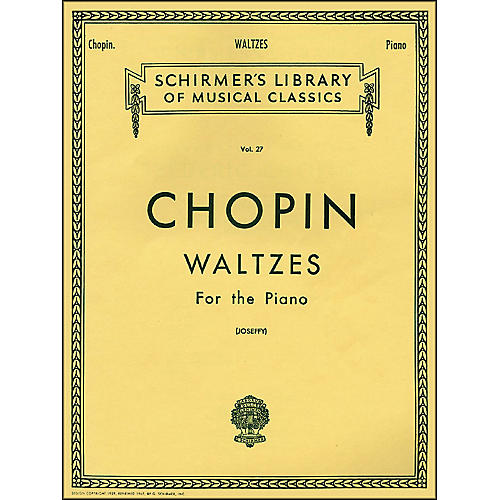 G. Schirmer Waltzes for The Piano By Chopin-thumbnail