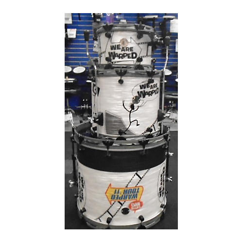 Chicago Custom Percussion Warped Tour Custom Drum Kit White Oyster