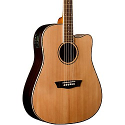 Washburn Dreadnaught Acoustic-Electric Solid Top Guitar (WD27SCE)