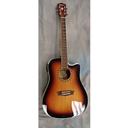 Washburn Wd7sceatb Acoustic Electric Guitar
