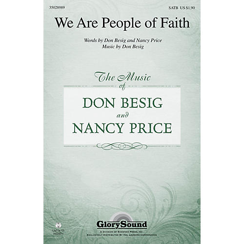 Shawnee Press We Are People of Faith SATB composed by Don Besig