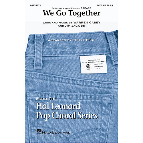 Hal Leonard We Go Together (from Grease) ShowTrax CD Arranged by Ed Lojeski