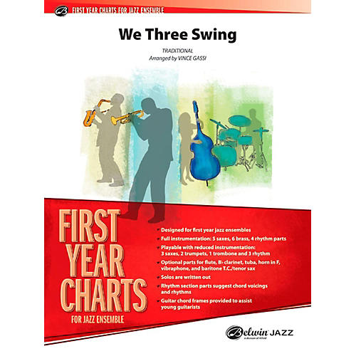 Alfred We Three Swing Jazz Band Grade 1-thumbnail