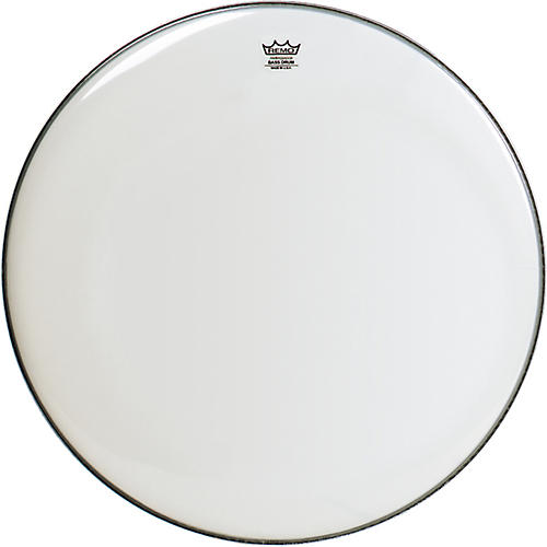 Remo WeatherKing Smooth White Ambassador Bass Drumhead  18 in.