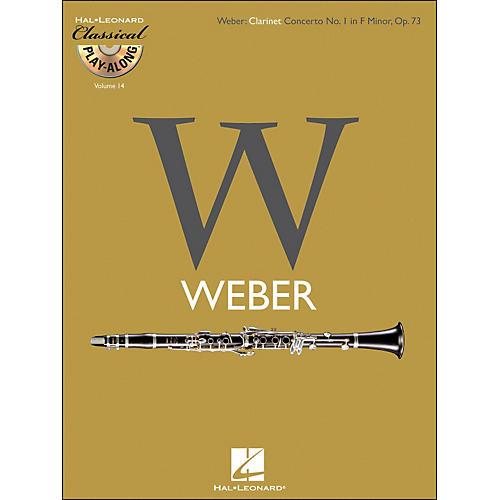 Hal Leonard Weber: Clarinet Concerto No.1In F Minor, Op.73 Classical Play-Along Book/CD Vol.14-thumbnail