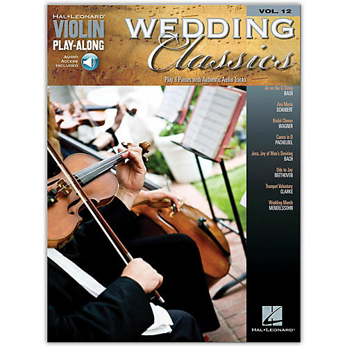 Hal Leonard Wedding Classics Violin Play-Along Volume 12 (Book/CD)-thumbnail