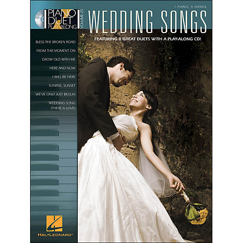 Hal Leonard Wedding Songs Piano Duet Play-Along Volume 25 Book/CD