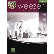 Hal Leonard Weezer - Bass Play-Along Volume 24 Book/CD