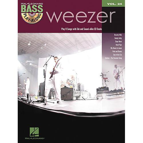 Hal Leonard Weezer - Bass Play-Along Volume 24 Book/CD-thumbnail