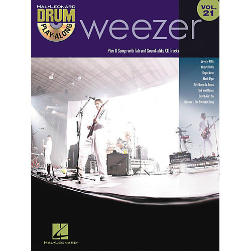 Hal Leonard Weezer - Drum Play-Along Volume 21 Book/CD-thumbnail