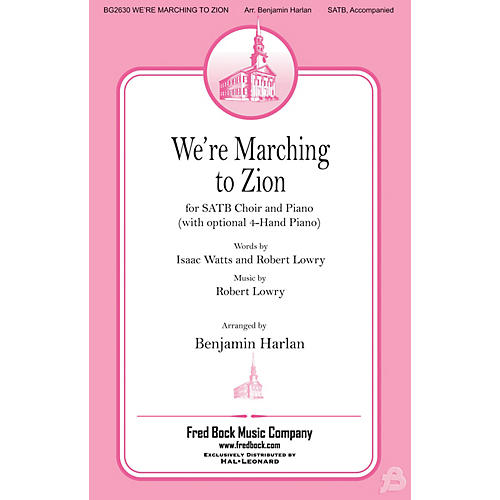 Fred Bock Music We're Marching to Zion 4 HAND PIANO Arranged by Benjamin Harlan