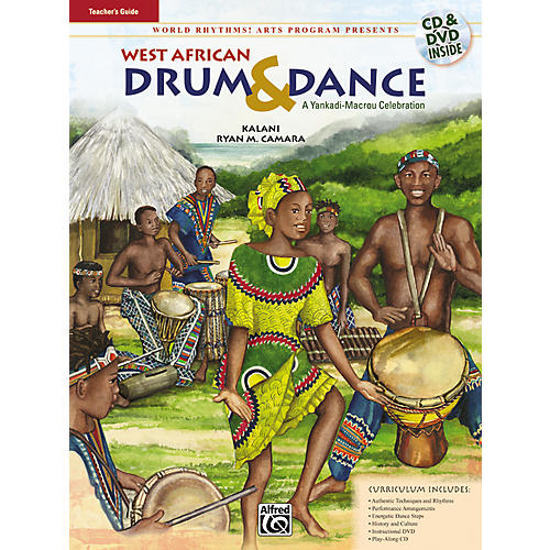 Alfred West African Drum & Dance (A Yankadi-Macrou Celebration) Teacher's Guide (Book/DVD/CD)-thumbnail