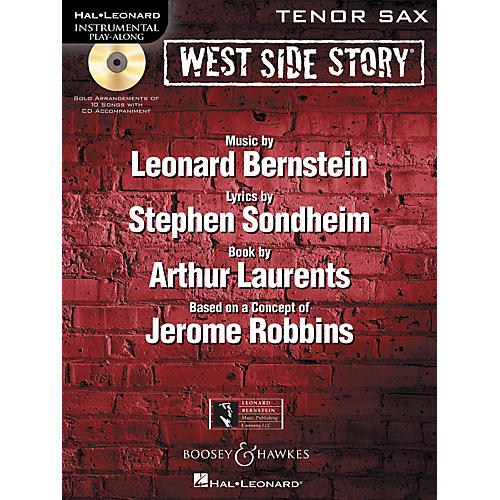 Hal Leonard West Side Story for Tenor Sax Instrumental Play-Along Series Book with CD
