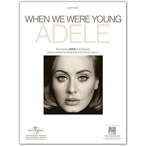 Hal Leonard Where We Were Young - Adele, Easy Piano Sheet