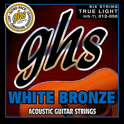 GHS White Bronze True Light Acoustic-Electric Guitar Strings-thumbnail
