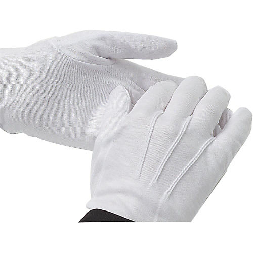 Director's Showcase White Cotton Gloves: Dozen