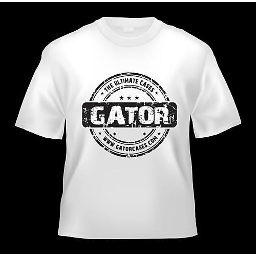 Gator White Gator Cases T-Shirt with Black Gator Cases Logo-thumbnail