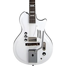 Supro White Holiday Vibrato Semi-Hollow Electric Guitar