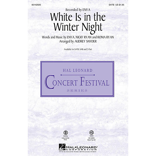 Hal Leonard White Is in the Winter Night ShowTrax CD by Enya Arranged by Audrey Snyder