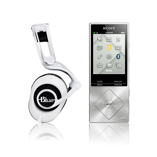 Blue White Lola Headphones with Sony Hi-Resolution Audio Player Kit