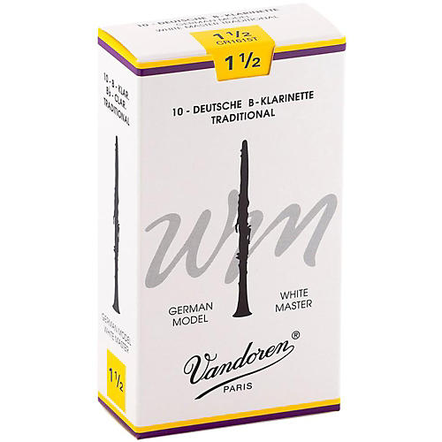 Vandoren White Master Traditional Bb Clarinet Reeds-thumbnail