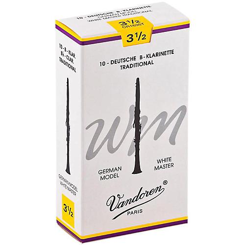 Vandoren White Master Traditional Bb Clarinet Reeds Box of 10, Strength 3.5