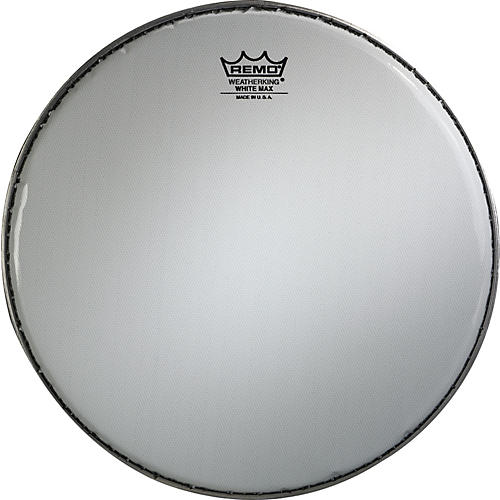 Remo White Max Crimped Smooth White Marching Snare Drum Head-thumbnail