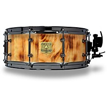 OUTLAW DRUMS White Pine Stave Snare Drum with Black Chrome Hardware