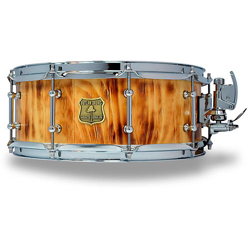 outlaw drums white pine stave snare drum with chrome hardware guitar center. Black Bedroom Furniture Sets. Home Design Ideas