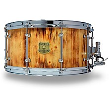 OUTLAW DRUMS White Pine Stave Snare Drum with Chrome Hardware
