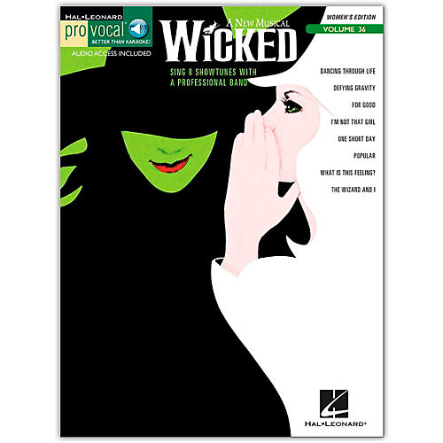 Hal Leonard Wicked - Pro Vocal Songbook for Female Singers, Volume 36 (Book/Online Audio)-thumbnail