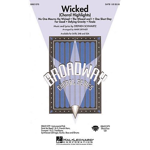 Hal Leonard Wicked (Choral Highlights) SATB arranged by Mark Brymer