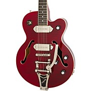 Wildkat Hollowbody Electric Guitar with Bigsby Wine Red