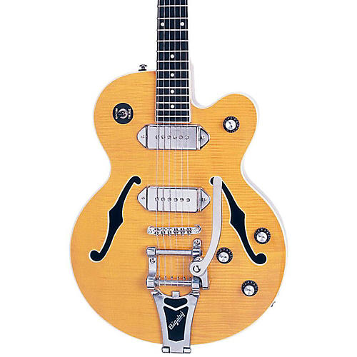 Epiphone Wildkat Semi-Hollowbody Electric Guitar with Bigsby Antique Natural Chrome