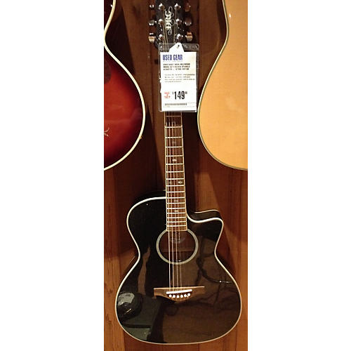 Daisy Rock Wildwood Model 6273 Black Sparkle Acoustic Electric Guitar-thumbnail