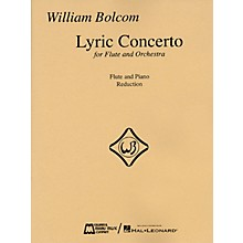 Edward B. Marks Music Company William Bolcom - Lyric Concerto for Flute and Orchestra (Piano Reduction) Woodwind Solo Series