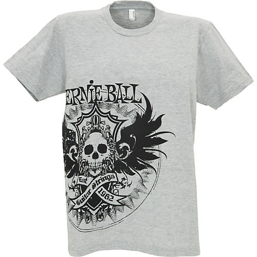 Ernie Ball Winged Crest Tee White Large