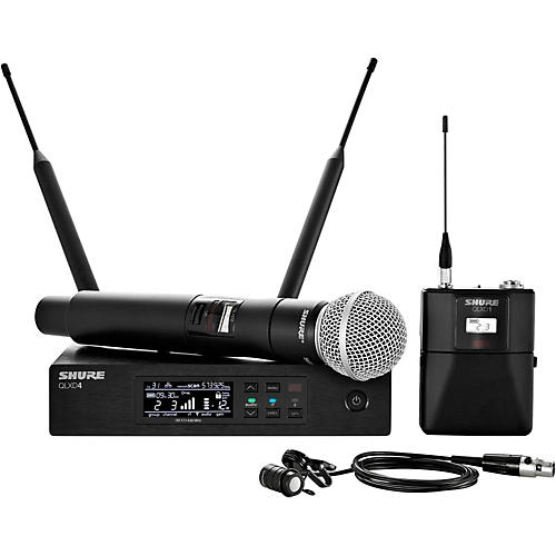 Shure Wireless Bodypack and Vocal Combo System with WL185 and SM58 Band H50
