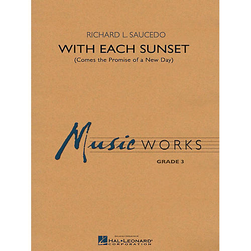 Hal Leonard With Each Sunset (Comes the Promise of a New Day) - MusicWorks Grade 3 Concert Band-thumbnail