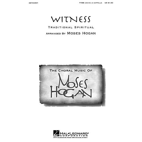 Hal Leonard Witness TTBB Div A Cappella arranged by Moses Hogan