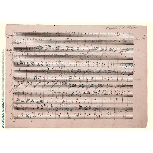 Axe Heaven Wolfgang Amadeus Mozart Music Manuscript Poster - 12 Variations for Keyboard