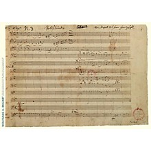 Axe Heaven Wolfgang Amadeus Mozart Music Manuscript Poster - Piano Concerto in A Major