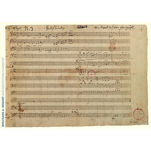 Axe Heaven Wolfgang Amadeus Mozart Music Manuscript Poster - Piano Concerto in A Major-thumbnail
