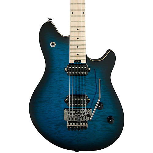 EVH Wolfgang Standard Electric Guitar Transparent Black Maple Fretboard-thumbnail