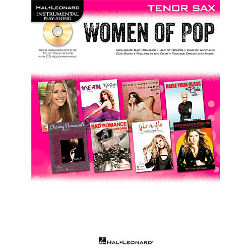 Hal Leonard Women Of Pop For Tenor Sax - Instrumental Play-Along Book/CD-thumbnail