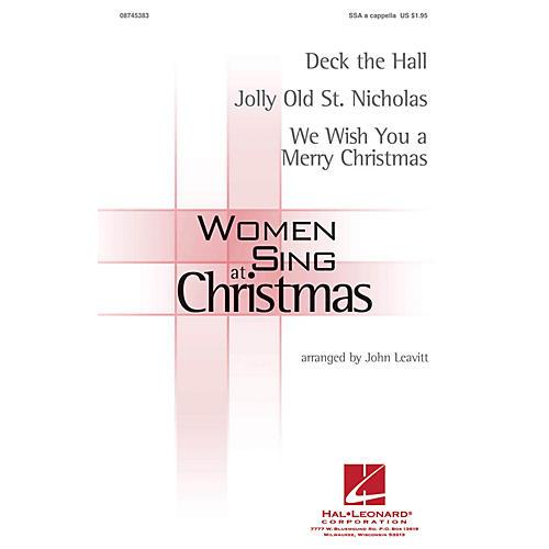 Hal Leonard Women Sing at Christmas SSA A Cappella arranged by John Leavitt